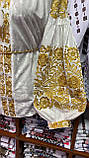 ВЕЛЮРОВА жіноча вишиванка в золоті💥💛⚜️, фото 8