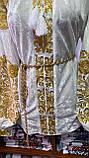 ВЕЛЮРОВА жіноча вишиванка в золоті💥💛⚜️, фото 9