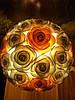 Светильник Букет абрикосовых роз на 8 Марта Оригинальный подарок ручной работы