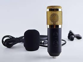 Микрофон студийный M 800 U, для стримеров, блогеров, вокалистов, Микрофон для студийной записи