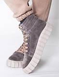 Ботинки молодежные на байке из натуральной замши от производителя модель НИ66-1, фото 2
