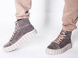Ботинки молодежные на байке из натуральной замши от производителя модель НИ66-1, фото 4