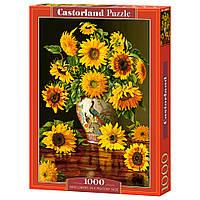 """Пазл """"Подсолнухи в вазе"""", 1000 элементов Castorland (5904438103843)"""