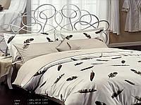 Комплект постельного белья Maison D'or Plumes Beige сатин 220-200 см бежевый