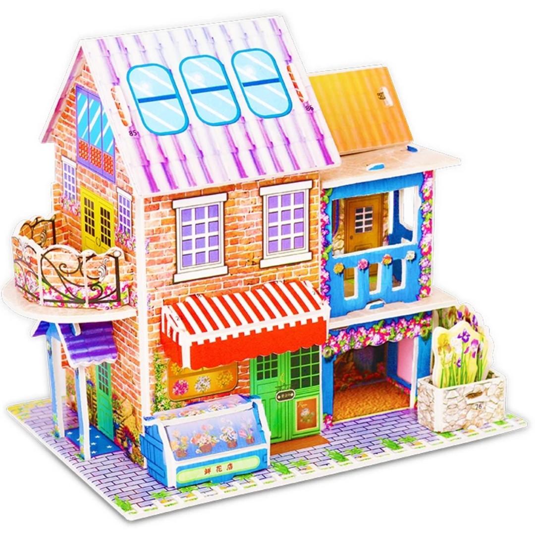 Головоломка 3d будиночок. Для розвитку дітей.