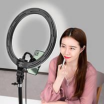 Кільцева LED лампа світлодіодна 32 см пульт і штатив 2 м Dimmable L32 кільцевої світло світлодіодне кільце, фото 2