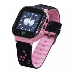 Детские умные часы (смарт часы с GPS + родительский контроль + фонарь)  Smart GM9, (Розовые)