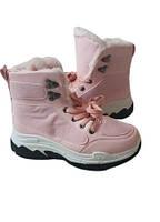 Зимние женские кроссовки, ботинки розового цвета на шнуровке