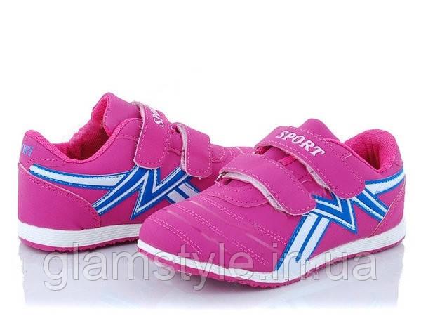 Детские кроссовки для девочки на липучках, на весну