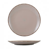 Тарелка керамика 10,5 мелкая глазурь пудра