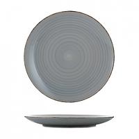Тарелка керамика 10,5 мелкая глазурь графит
