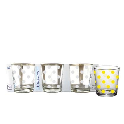 """Набір стаканів скло """"Горох"""" (6шт) 250мл 86004033/Галерея"""
