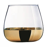 """Набір стаканів скло """"Luminarc. Електричне золото"""" (4шт) низьких 300мл P9303/1"""