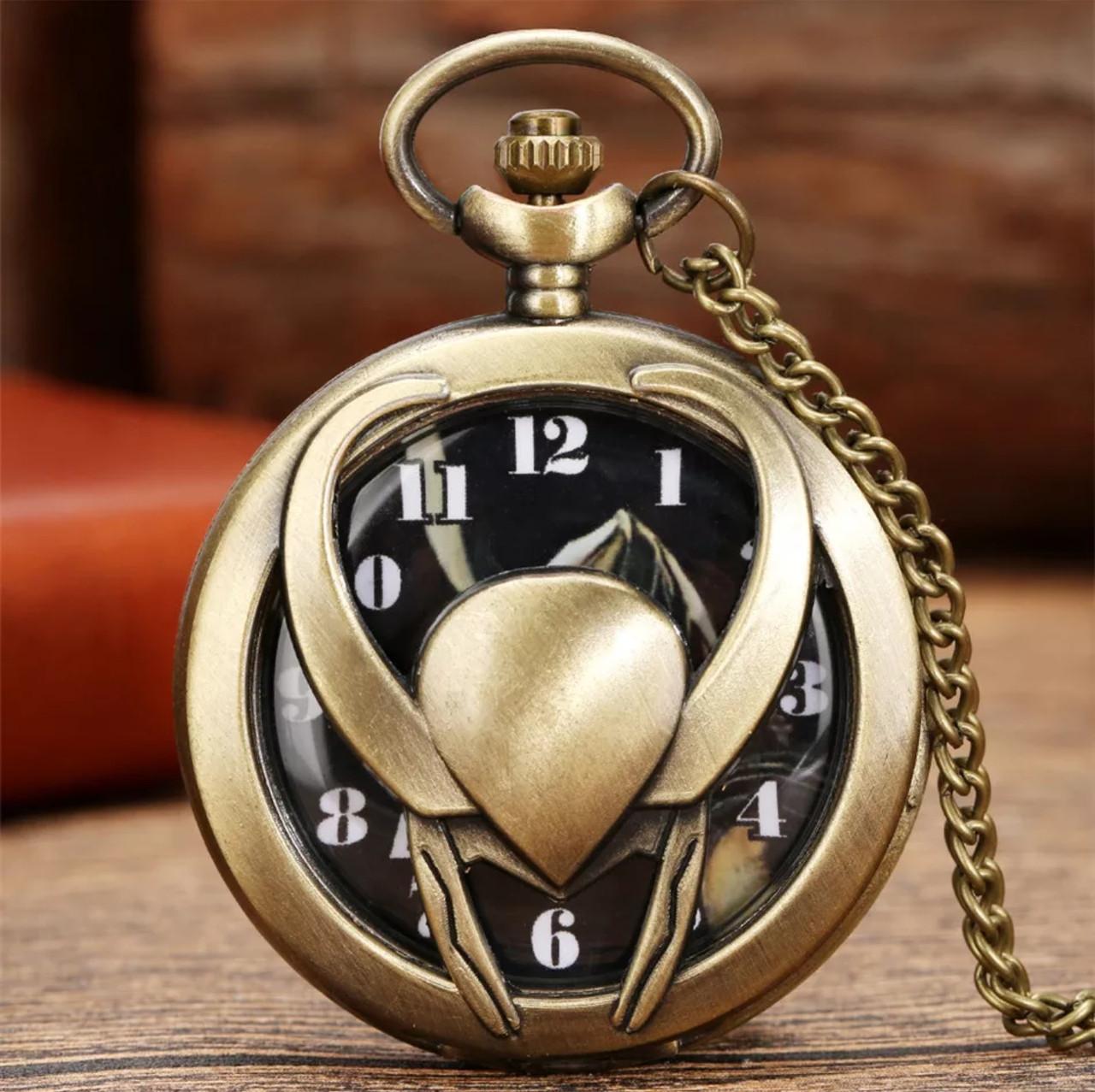 Карманные часы на цепочке Локи