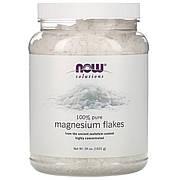 Магниевые хлопья, 100 % чистоты, Magnesium Flakes, Solutions, Now Foods, 1531 г (3,37 фунта)