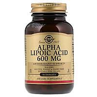 Альфа Липоевая Кислота, Alpha Lipoic Acid, Solgar, 600 мг, 50 таблеток