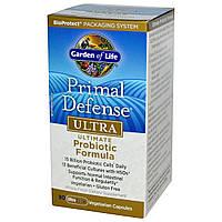 Пробиотическая Формула Ультра, Primal Defense, Garden of Life, 90 гелевых капсул