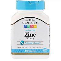 Цинк, 50 мг, 21st Century, 110 таблеток