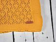 Ажурный вязаный плед MagBaby Holly горчичный, фото 3