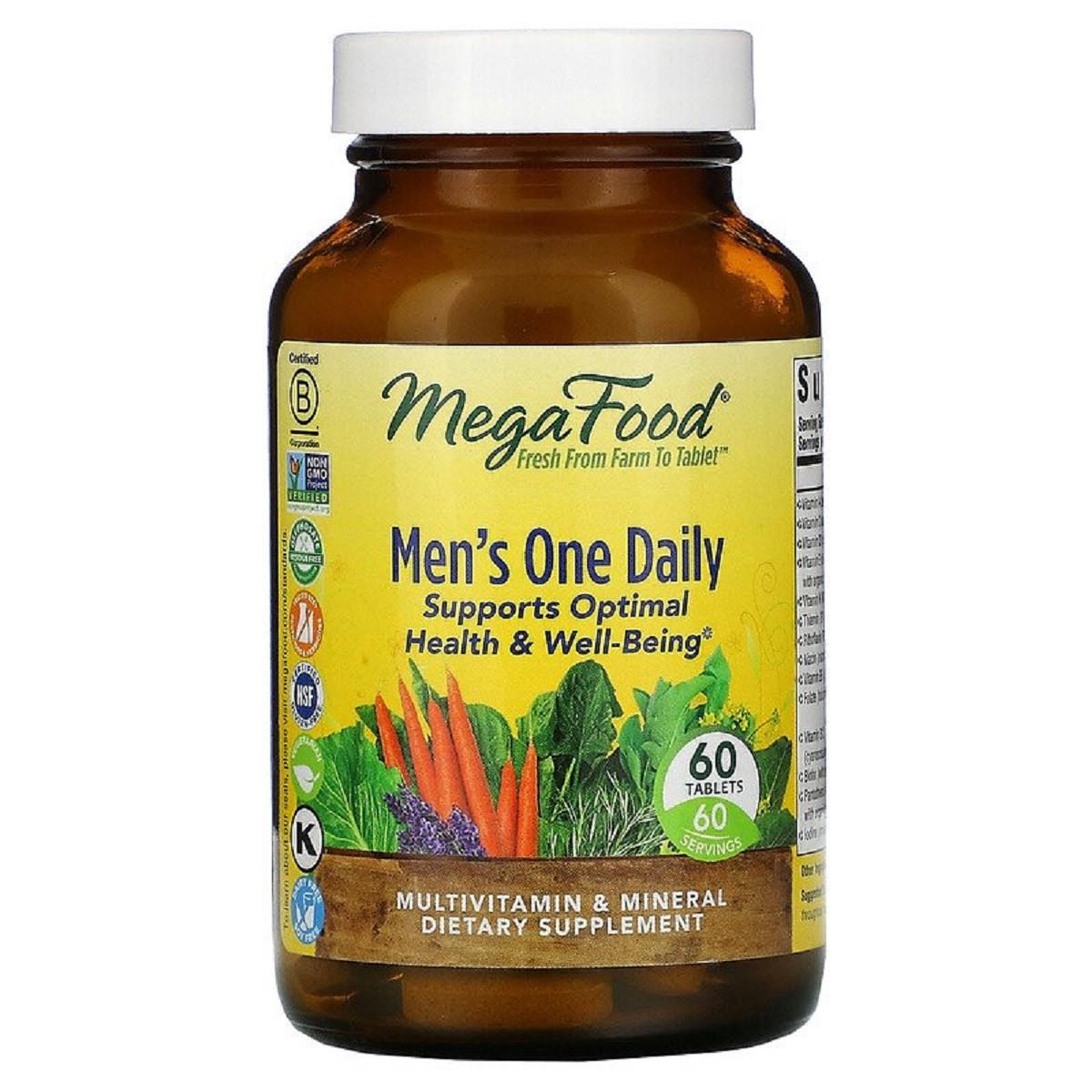 Мультивитамины для мужчин, Men's One Daily, MegaFood, 60 таблеток