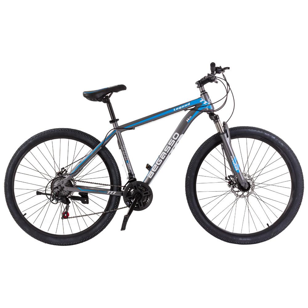 """Велосипед горный найнер 29"""" BeGasso Legend рама 19"""" Черно Синий на рост 170-185 см"""