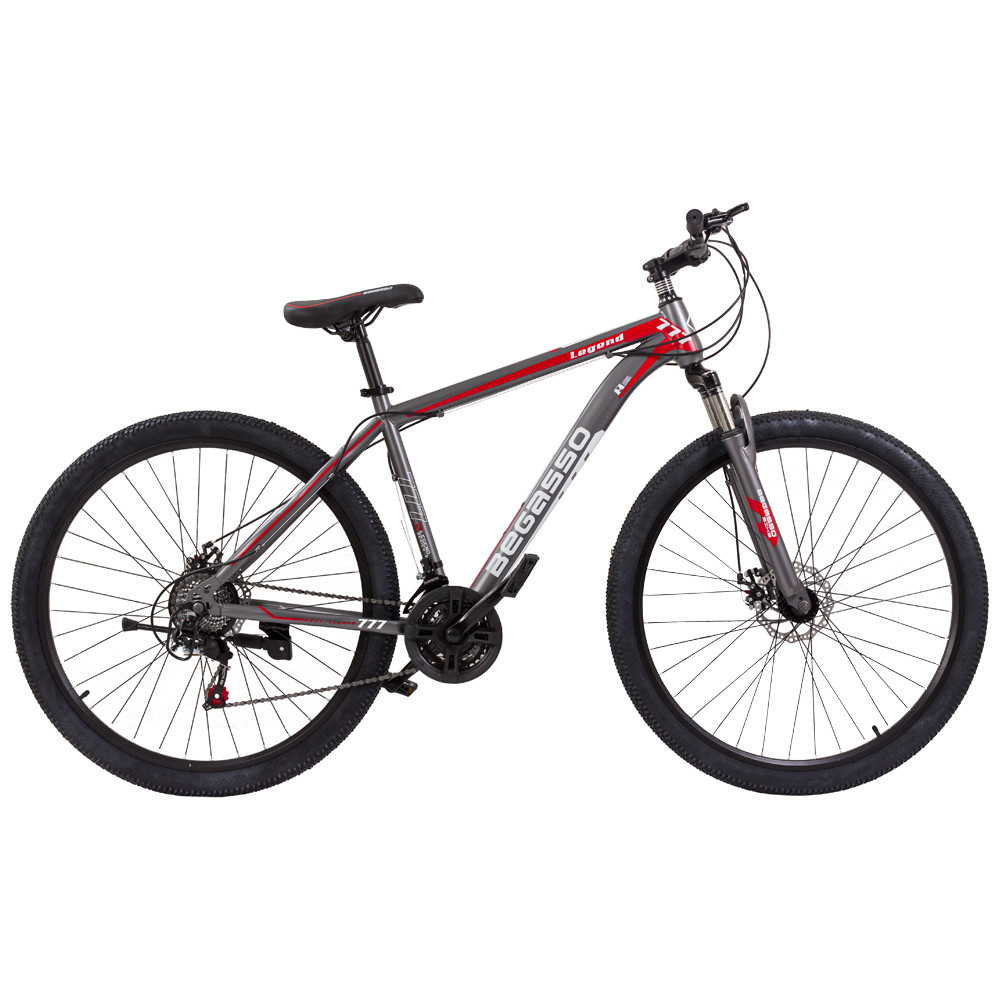 """Велосипед гірський найнер 29\"""" BeGasso Legend рама 19\"""" Чорно Червоний на ріст 170-185 см"""