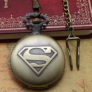 Карманные часы на цепочке Супермен, фото 2