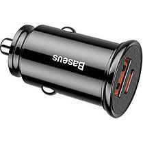 Автомобильное зарядное устройство USB Baseus Circular Plastic A+Type-C PPS 5А CCALL-YS01 Black, фото 2