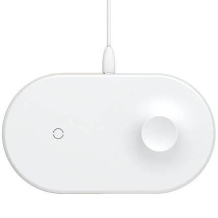 Беспроводное зарядное устройство Baseus Smart 2in1 Type-C Version WX2IN1P20-02  Phone + Watch White, фото 2