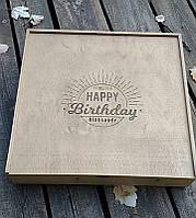 Подарочная коробка из дерева с гравировкой