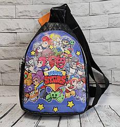 Brawl stars Детский подростковый рюкзак для мальчика бравл старс кожзам черный