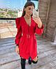 Нарядное платье из костюмной ткани,  костюмка Барби. Размер:  S, M. Разные цвета. (9029), фото 5