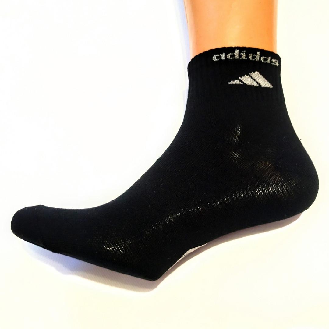 Чорні спортивні чоловічі шкарпетки розмір 41-45