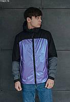 Ветровка Staff shark chameleon2 фиолетовый/чёрный/серый FFK0179