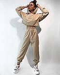 Женский костюм спортивный со штанами на высокой посадке и кофтой свободного кроя (Норма), фото 3