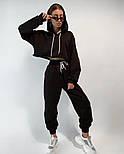 Женский костюм спортивный со штанами на высокой посадке и кофтой свободного кроя (Норма), фото 5