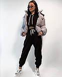 Женский костюм спортивный со штанами на высокой посадке и кофтой свободного кроя (Норма), фото 6