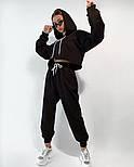 Женский костюм спортивный со штанами на высокой посадке и кофтой свободного кроя (Норма), фото 8