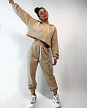 Женский костюм спортивный со штанами на высокой посадке и кофтой свободного кроя (Норма), фото 9