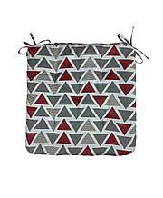 Подушка на стул треугольнички
