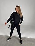 Трендовый женский спортивный костюм с удлиненной кофтой и манжетами (Норма), фото 5