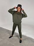 Трендовый женский спортивный костюм с удлиненной кофтой и манжетами (Норма), фото 6