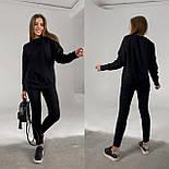 Трендовый женский спортивный костюм с удлиненной кофтой и манжетами (Норма), фото 8