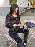 Жіночий стильний велюровий костюм в кольорах (Норма і батал), фото 4