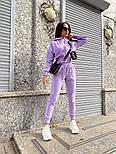 Жіночий стильний велюровий костюм в кольорах (Норма і батал), фото 8