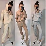 Жіночий спортивний костюм стильний в стилі oversize (Норма), фото 6