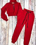 Жіночий стильний спортивний костюм з укороченим топом, фото 2