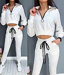 Жіночий стильний спортивний костюм з укороченим топом, фото 6