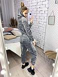Женский костюм стильный из плюша в расцветках (Норма), фото 3