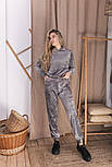 Женский костюм стильный из плюша в расцветках (Норма), фото 4